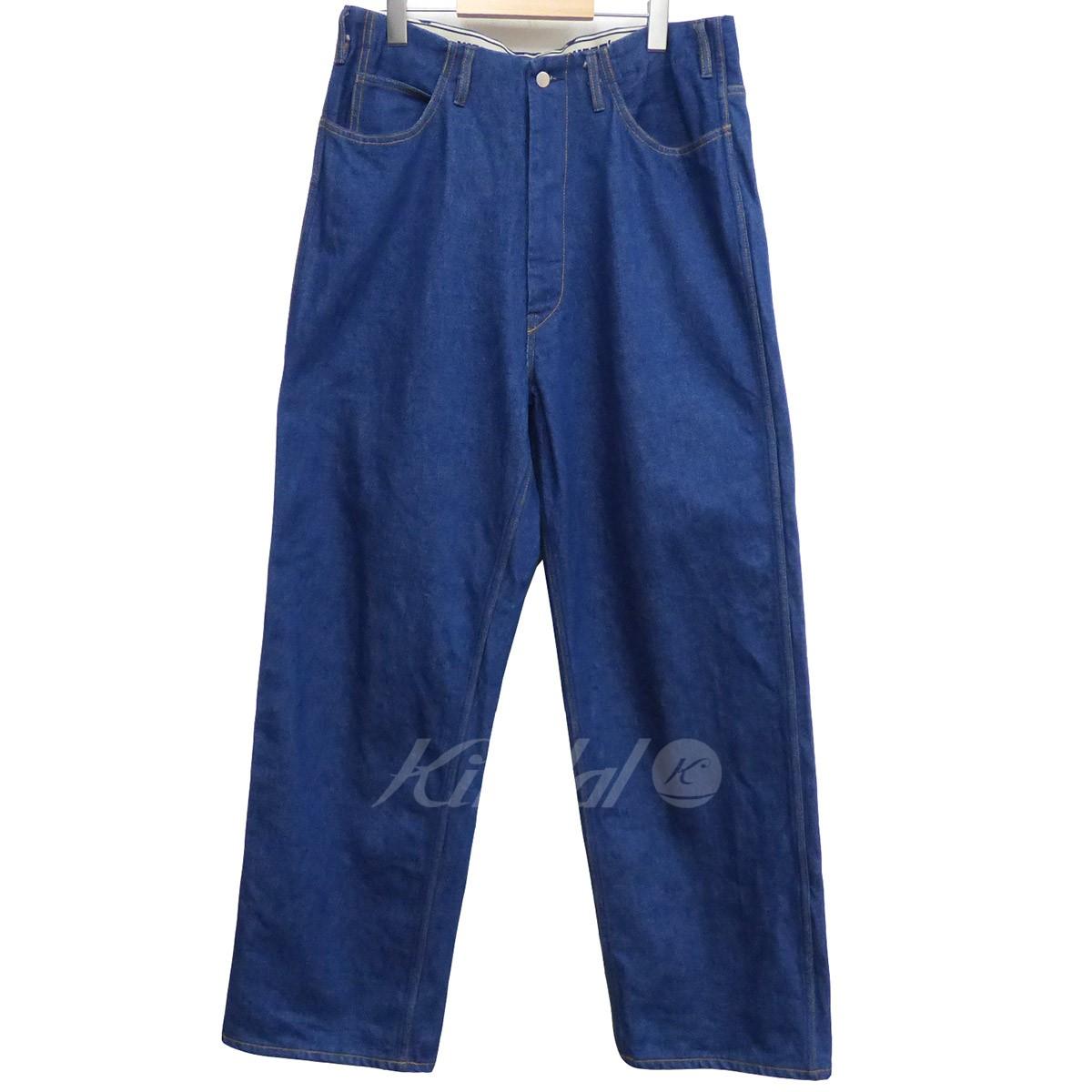 【中古】WESTOVERALLS 17AW 803W Denim Wide Pants One Washワンウォッシュワイドデニム インディゴ サイズ:32(86cm) 【送料無料】 【080419】(ウエストオーバーオールズ)