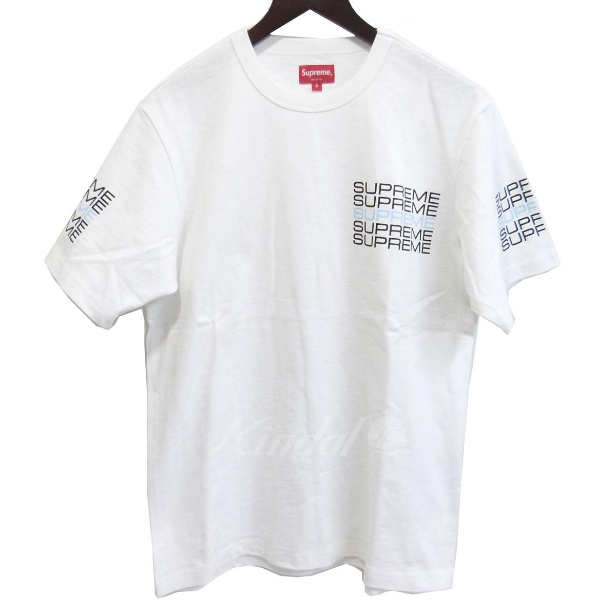 【中古】SUPREME 19SS Stack Logo Tee プリント ホワイト サイズ:S 【送料無料】 【090419】(シュプリーム)