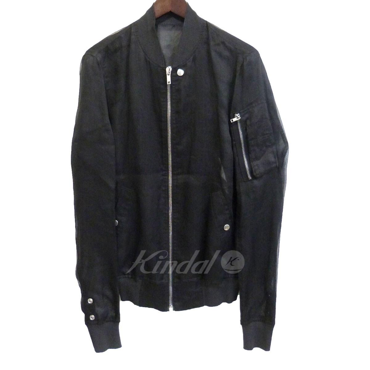 【中古】Rick Owens 18SS 「Flight Jacket」シースルーボンバージャケット ブラック サイズ:46 【送料無料】 【090419】(リックオウエンス)