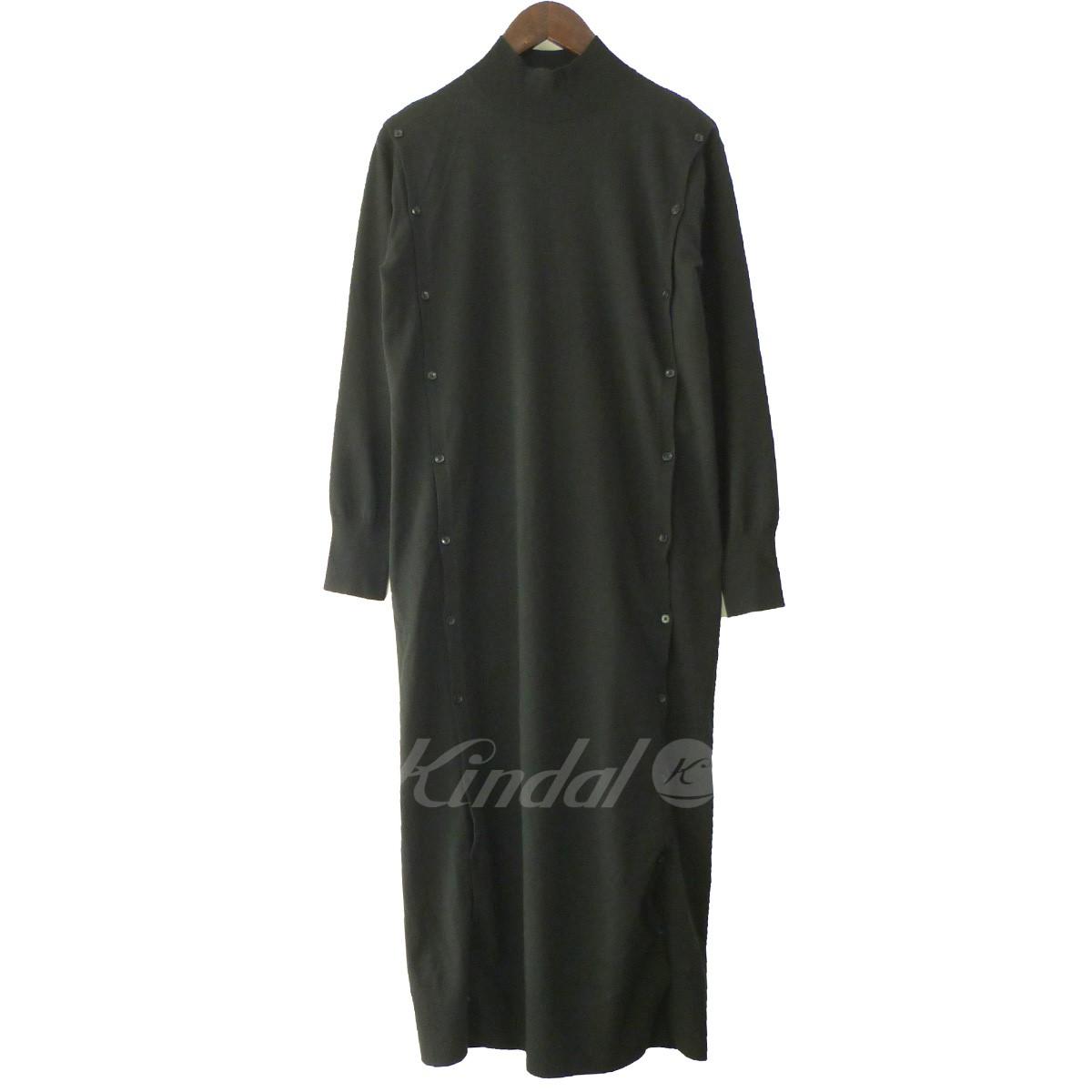 【中古】LE CIEL BLEU 19SS「Button Knit Dress」ボタンニットドレス ブラック サイズ:36 【090419】(ルシェルブルー)