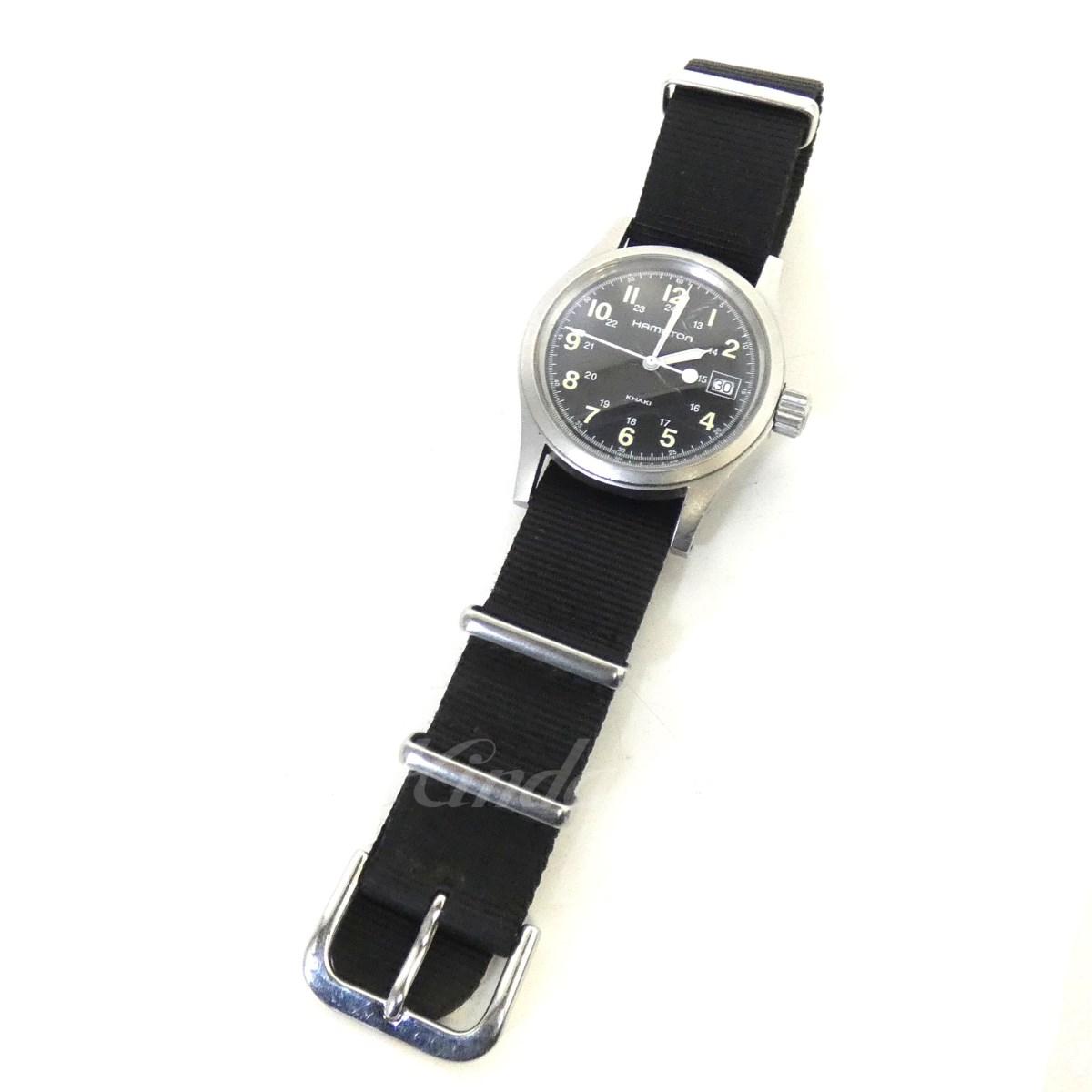 【中古】HAMILTON 「KHAKI」683110 クオーツ腕時計 ブラック サイズ:- 【送料無料】 【090419】(ハミルトン)