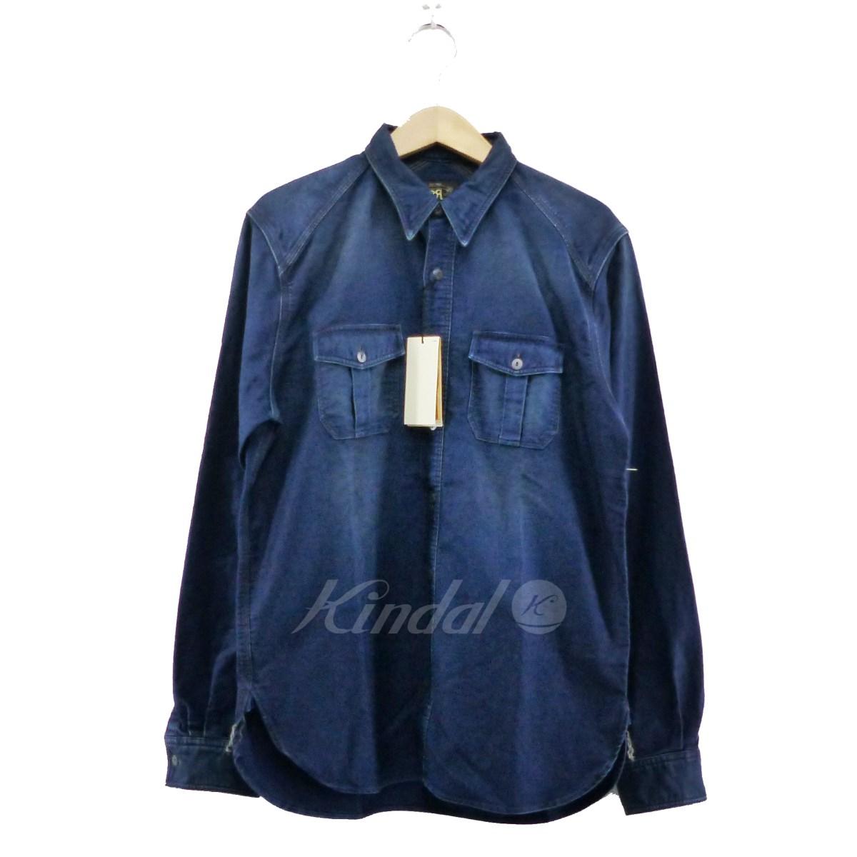 【中古】RRL インディゴ染めシャツ インディゴ サイズ:M 【送料無料】 【100419】(ダブルアールエル)