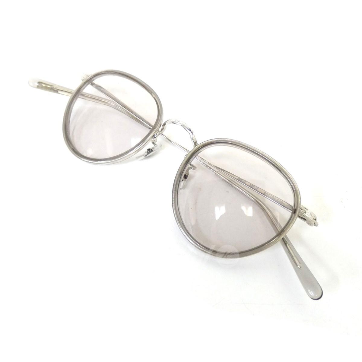 【中古】OLIVER PEOPLES 「MP-2 雅 WKG」 コンビネーションフレーム眼鏡 クリアグレー サイズ:46□24-148 【送料無料】 【100419】(オリバーピープルズ)