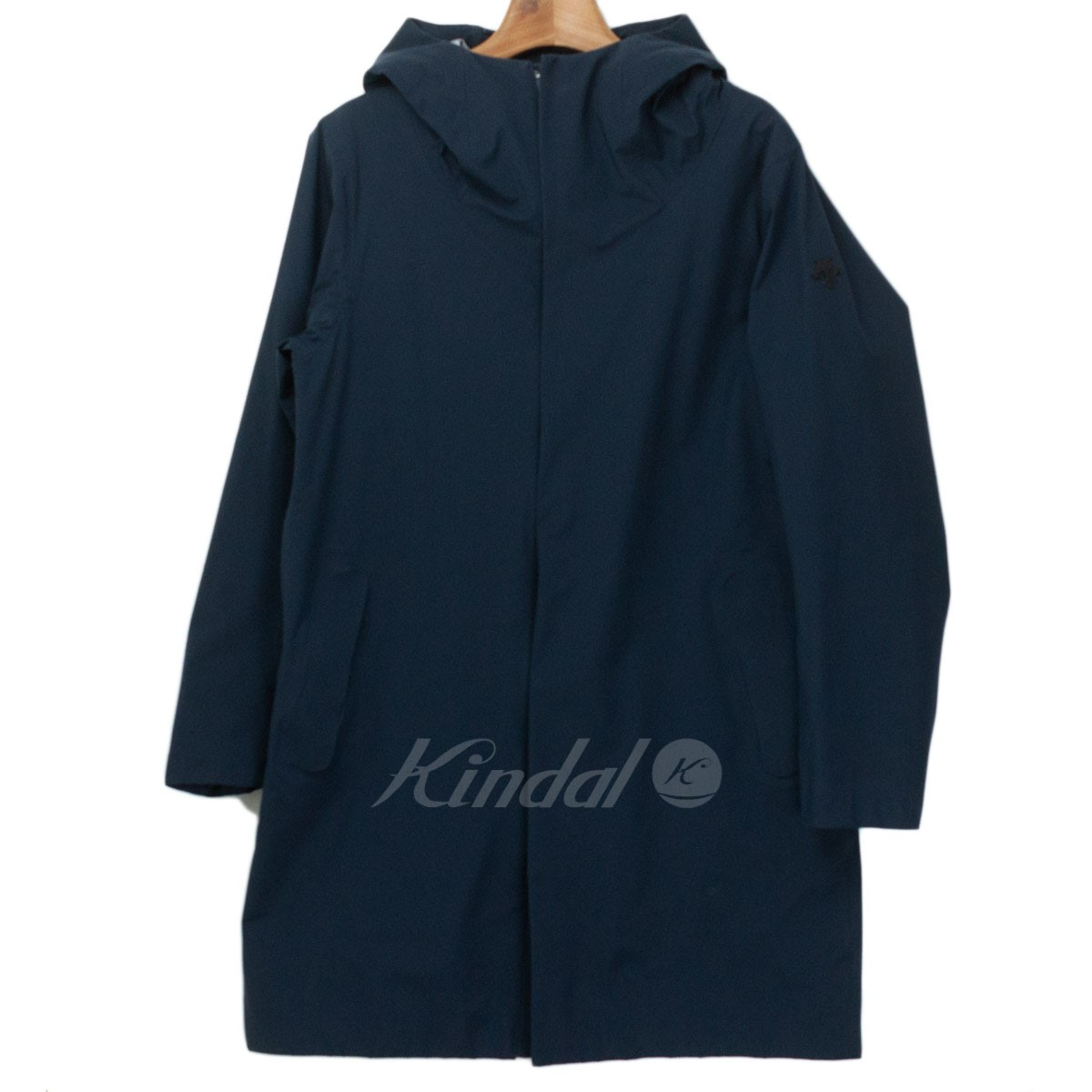 【中古】DESCENTE ALLTERRAIN WEATHER COAT ネイビー サイズ:L 【100419】(デサント)