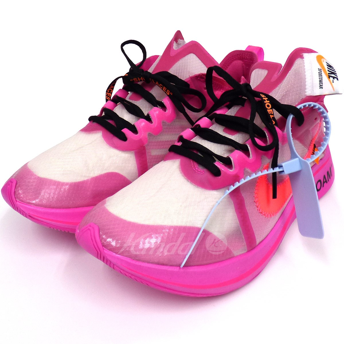 Kindal Off White X Nike Zoom Fly Zoom Fly Sneakers Pink Size Us10