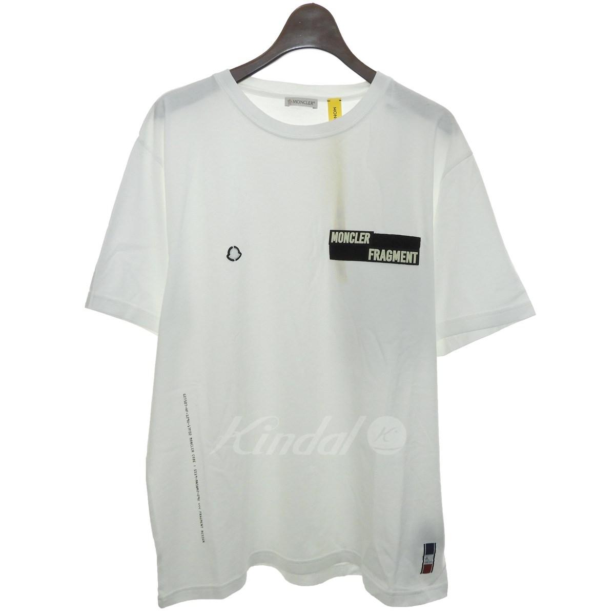 【中古】MONCLER × FRAGMENT 19SS「Velcro Logo Patch Tee」ベルクロロゴパッチTシャツ ホワイト サイズ:L 【送料無料】 【140419】(モンクレール × フラグメント)