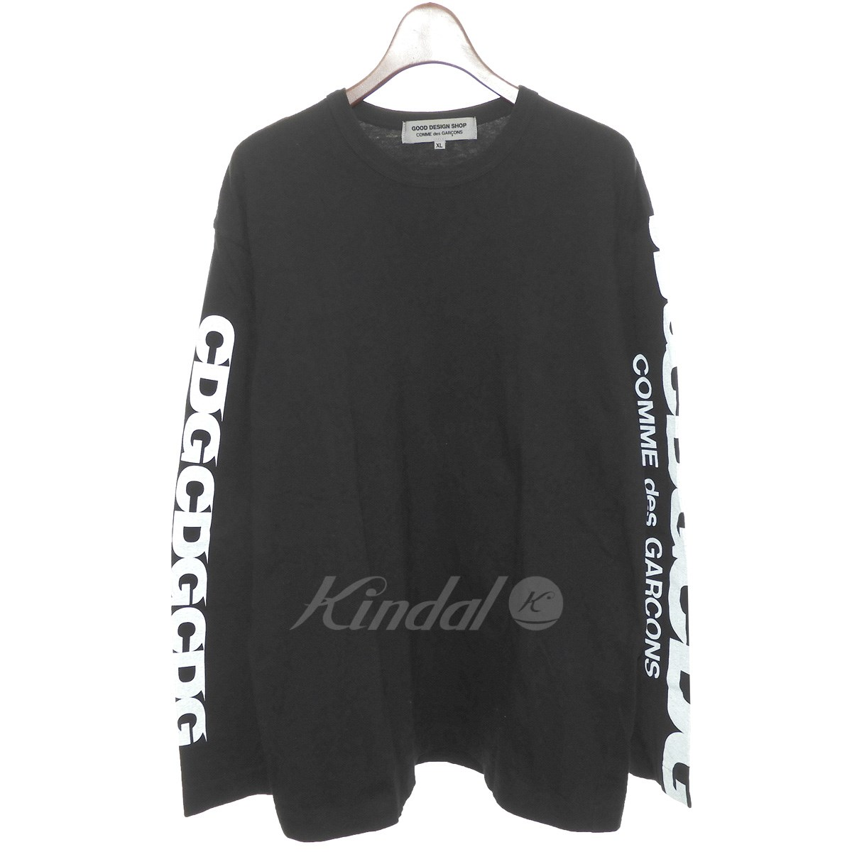 【中古】GOOD DESIGN SHOP COMME des GARCONS 長袖Tシャツ ブラック サイズ:XL 【送料無料】 【140419】(グッドデザインショップ コムデギャルソン)