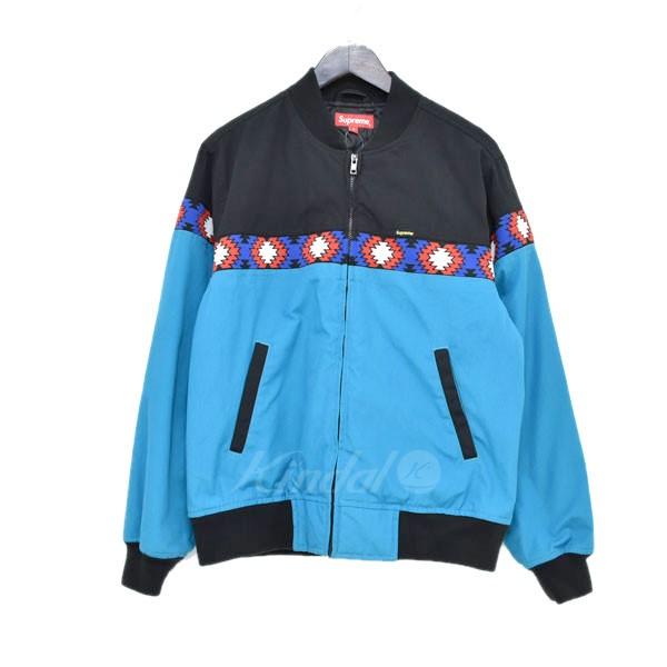 【中古】SUPREME 17SS Trail Jacket トレイルジャケット ジップアップブルゾン ブルー・ブラック サイズ:S 【送料無料】 【140419】(シュプリーム)