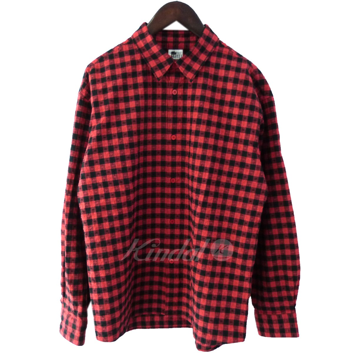 【中古】MASSES 「COTTON CHECK SHIRT」コットンチェックシャツ レッド×ブラック サイズ:S 【送料無料】 【140419】(マシス)