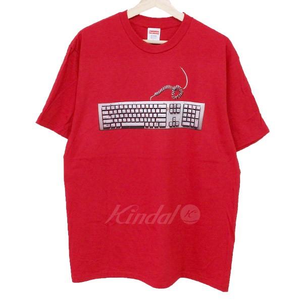 【中古】SUPREME 19SS Keyboard Tee キーボードTシャツ レッド サイズ:L 【130419】(シュプリーム)