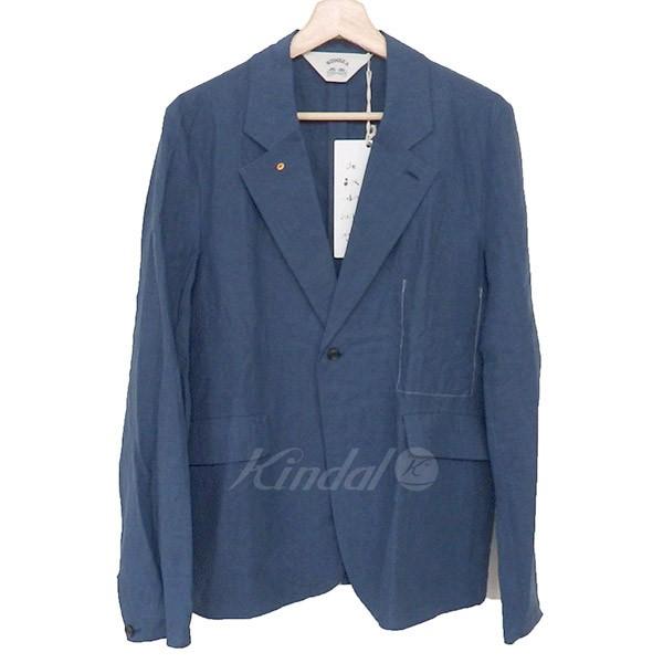 【中古】SUNSEA17SS Linen Jacket リネンジャケット ネイビー サイズ:2 【4月6日見直し】