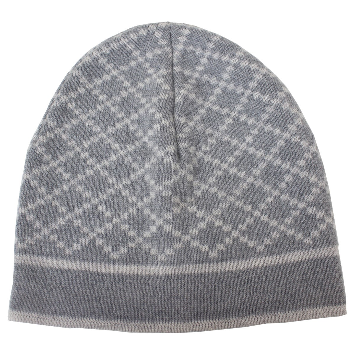 0a3d1df3 GUCCI diamond pattern knit cap beanie knit hat gray, off-white size: ...