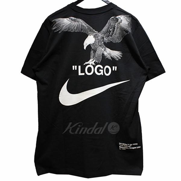 96ad6c23d kindal: NIKE X OFF WHITE NRG A6 TEE tuxedo print T-shirt black size ...