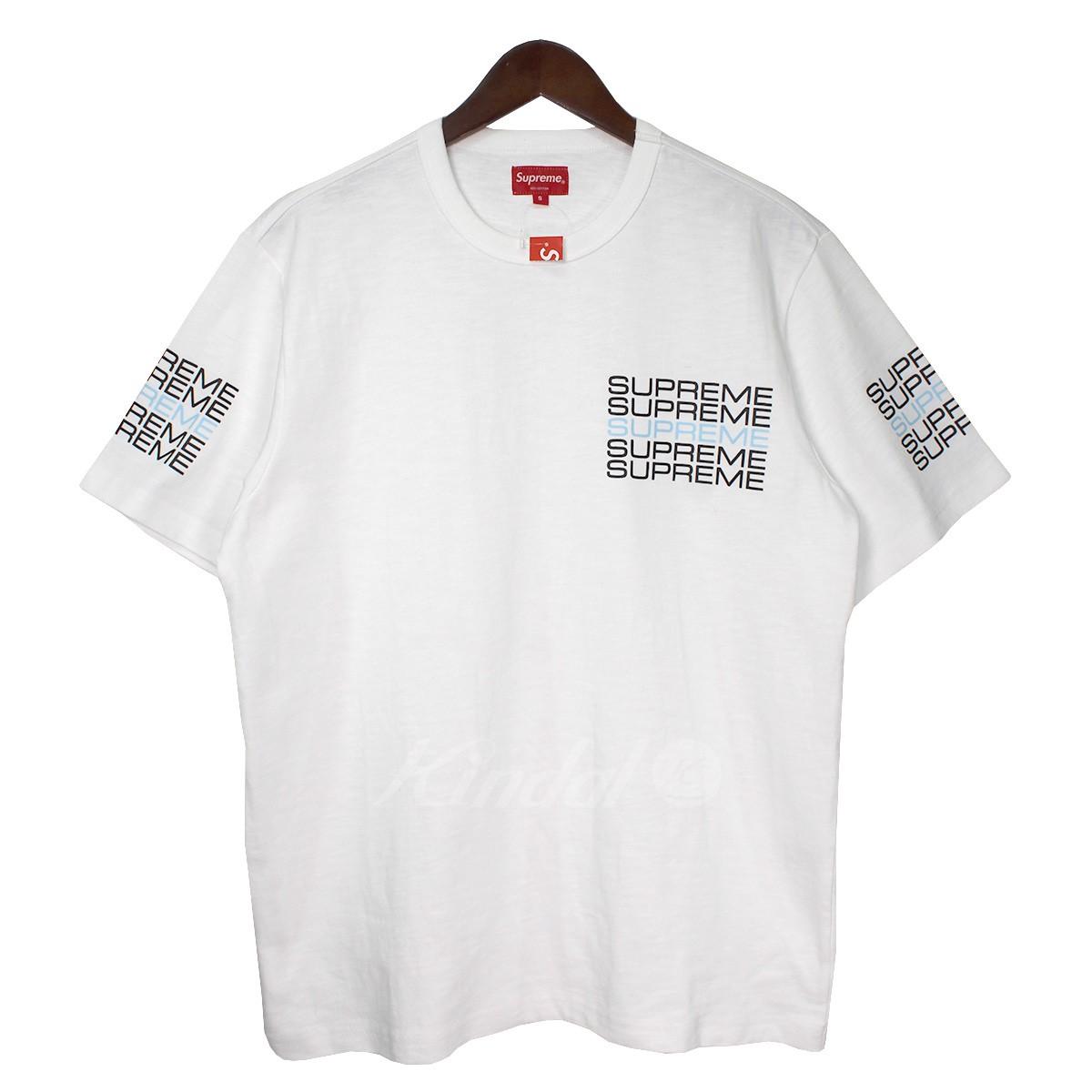 【中古】SUPREME 19SS Stack Logo Tee スタックロゴTシャツ ホワイト サイズ:S 【170419】(シュプリーム)