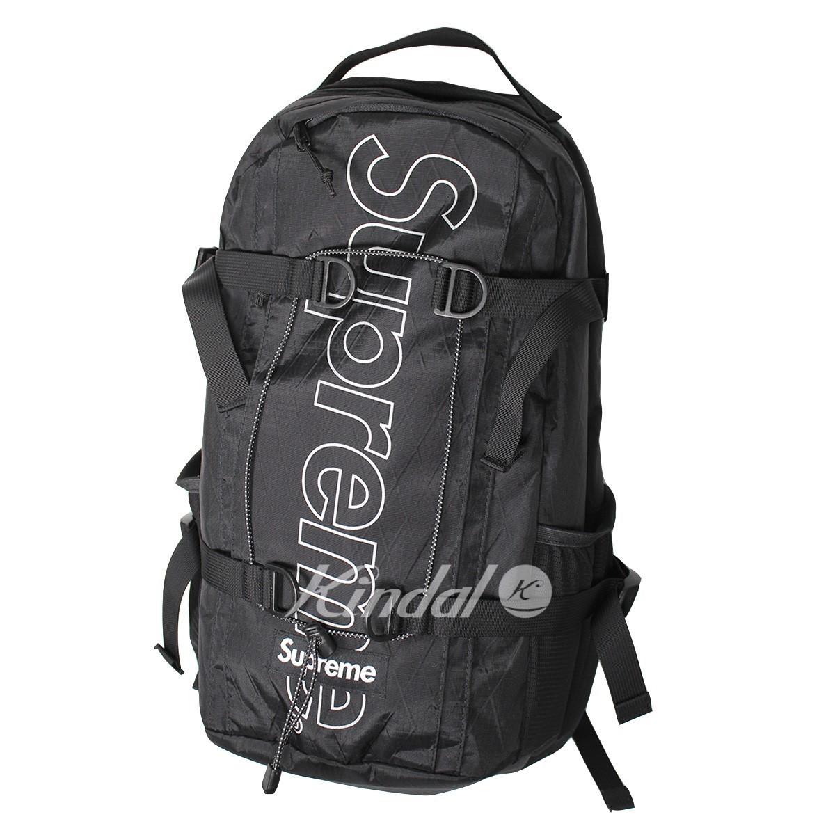 【中古】SUPREME 18AW Backpack ボックスロゴバックパック ブラック 【170419】(シュプリーム)