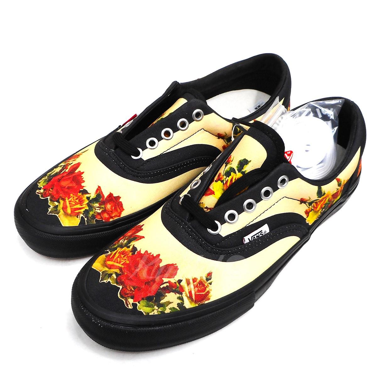 80bb48af436d Supreme X VANS X Jean Paul Gaultier 19SS Floral Prit Era Pro floral print  gills sneakers black size  US9