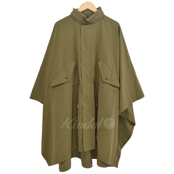 【中古】Deluxe Clothing TROOP ポンチョ 2016AW オリーブ サイズ:L 【190419】(デラックス クロージング)