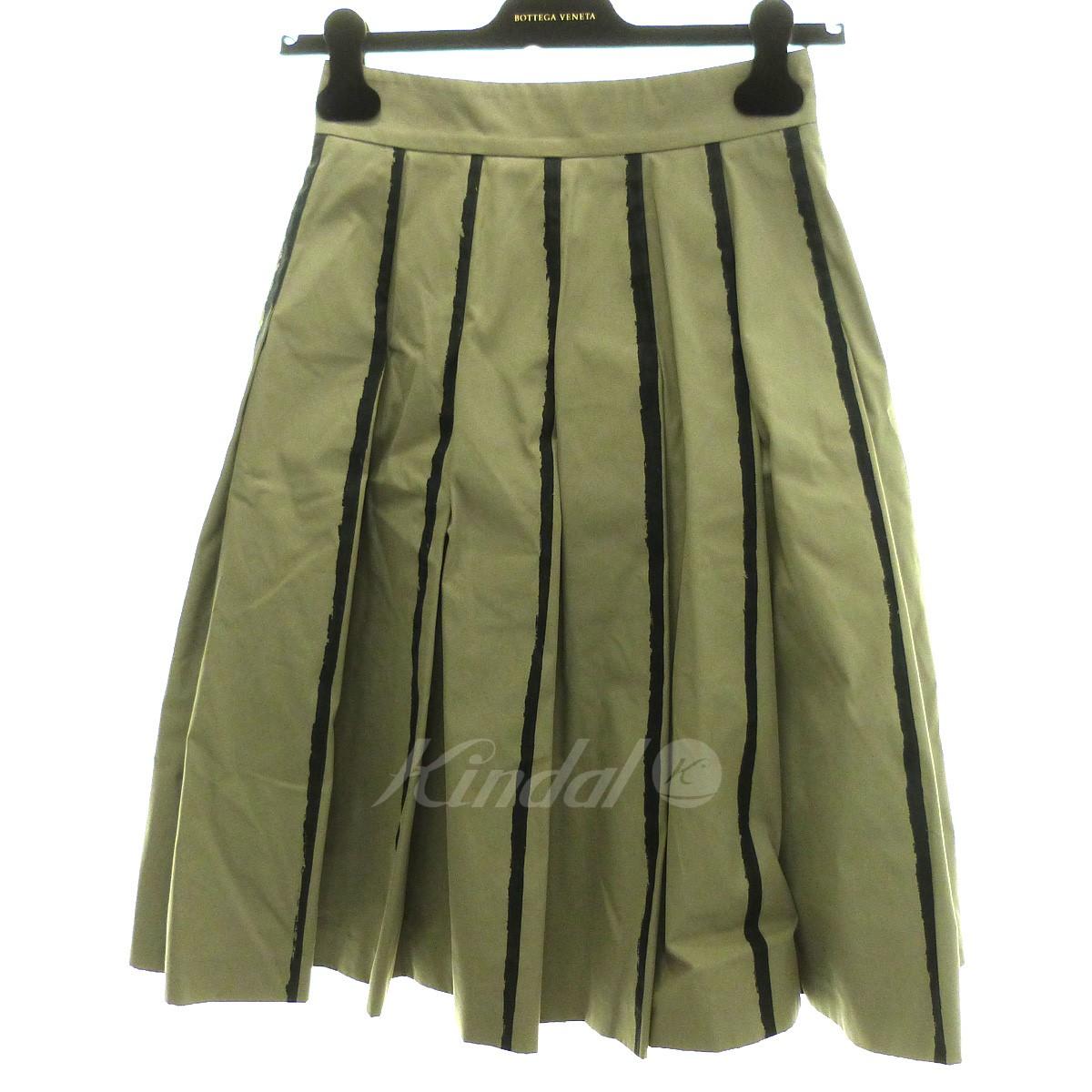 【中古】BOTTEGA VENETA プリーツスカート グレー サイズ:38 【200419】(ボッテガヴェネタ)