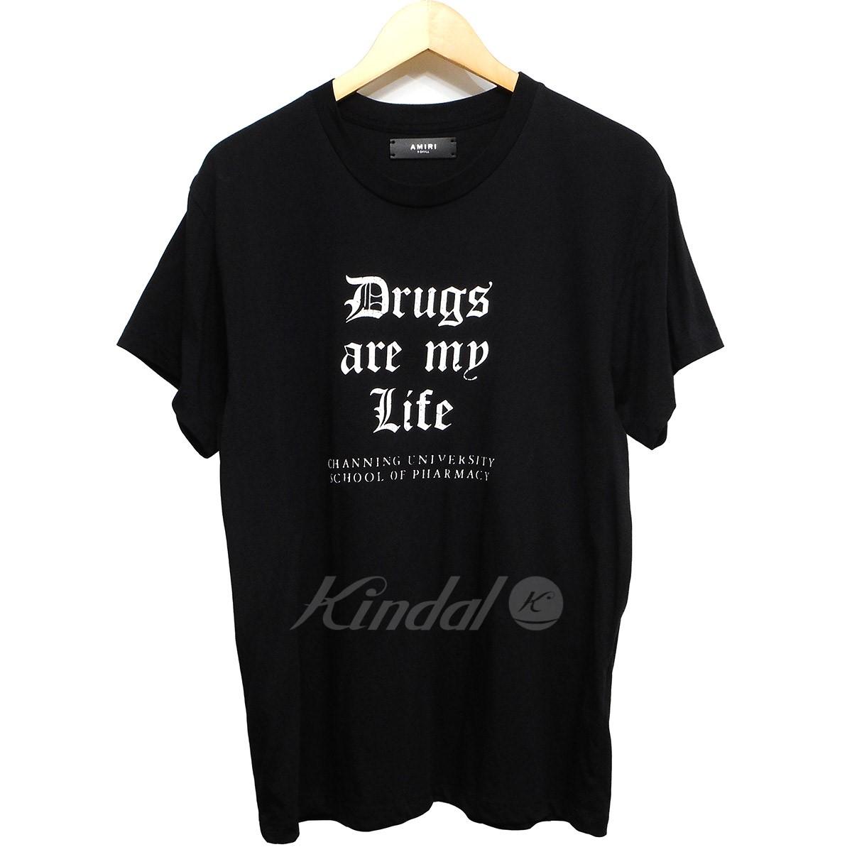 【中古】AMIRI 18SS Drugs are my Life Tee プリントTシャツ ブラック サイズ:XS 【送料無料】 【200419】(アミリ)