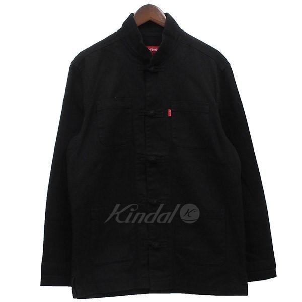 【中古】Supreme 2014SS Kung Fu Jacket カンフージャケット チャイナ ブルゾン ブラック サイズ:S 【220419】(シュプリーム)