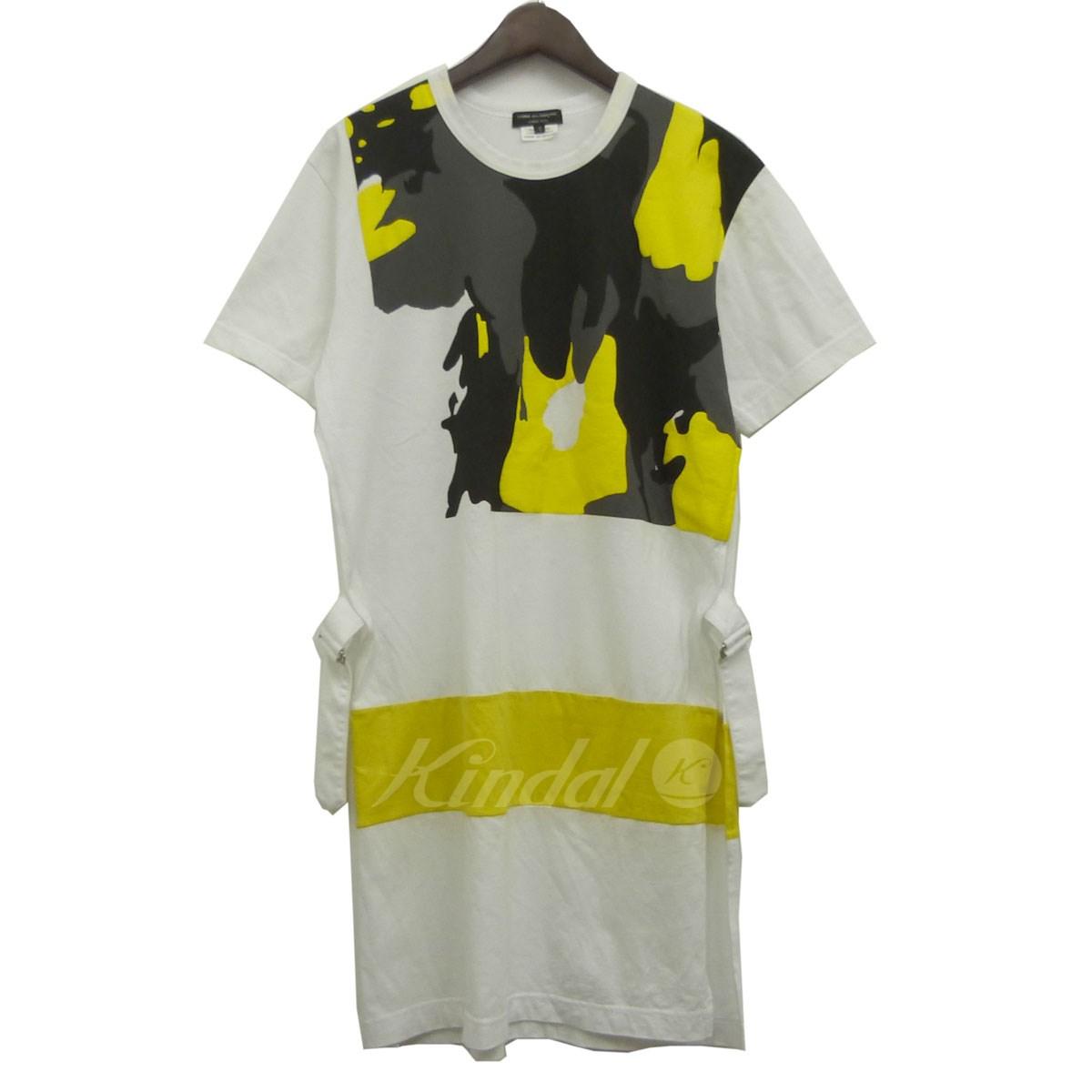 【中古】COMME des GARCONS HOMME PLUS 17AW カモフラロングTシャツ ホワイト サイズ:S 【250419】(コムデギャルソンオムプリュス)