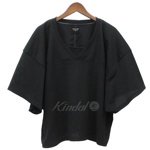 【中古】FEAR OF GOD MESH FOOTBALL JERSEY メッシュ フットボールT Tシャツ ブラック サイズ:S-M 【250419】(フィアーオブゴッド)