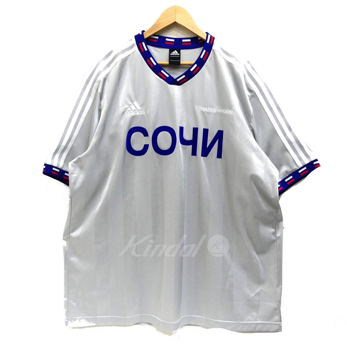 1e0ee7905 Gosha Rubchinskiy X Adidas X DSMG Player T-SHIRT 2018SS Russia World Cup  silver X ...