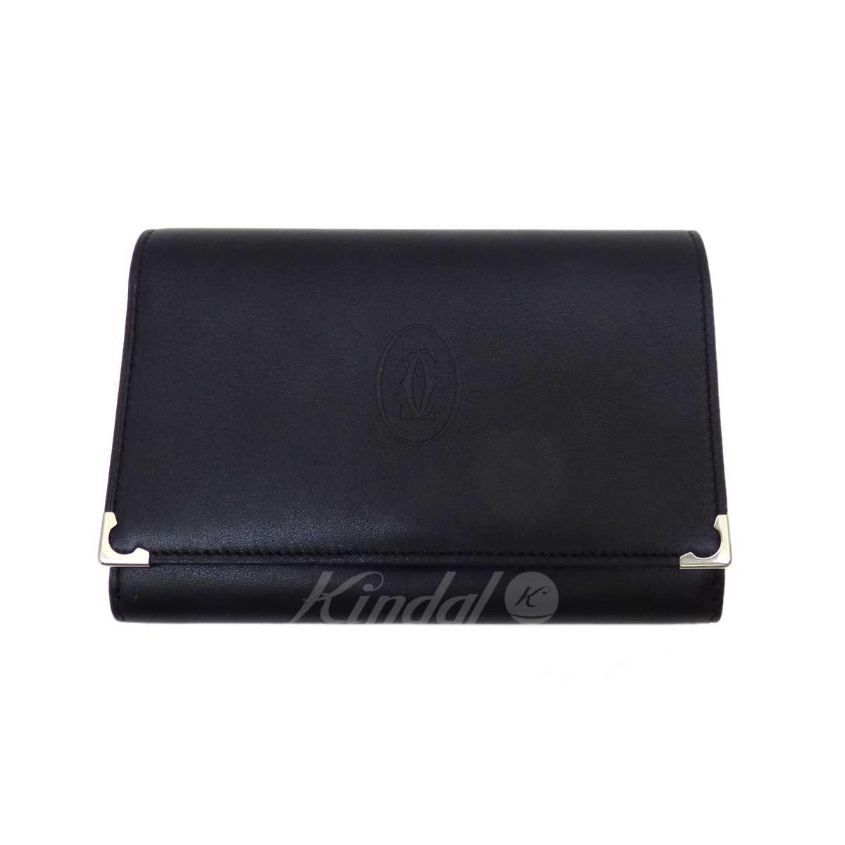 【中古】Cartier 財布 ブラック 【280419】(カルティエ)