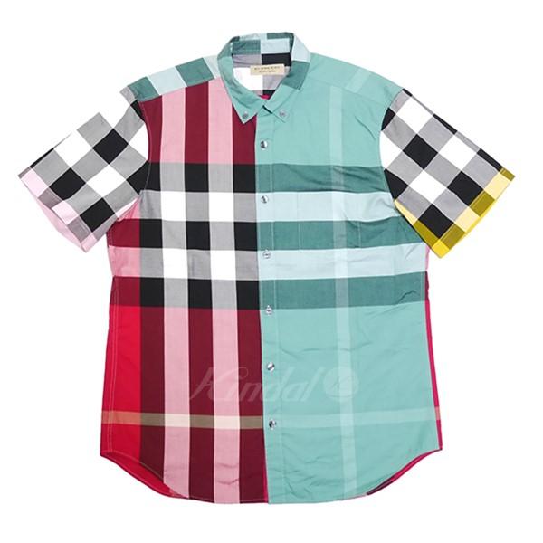 【中古】BURBERRY 半袖 シャツ マルチカラー サイズ:L 【290419】(バーバリー)
