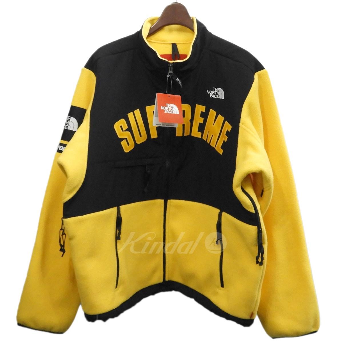 【中古】Supreme×THE NORTH FACE 19SS「Arc Logo Denali Fleece Jacket」アーチロゴフリースジャケット イエロー サイズ:L 【050519】(シュプリーム ノースフェイス)