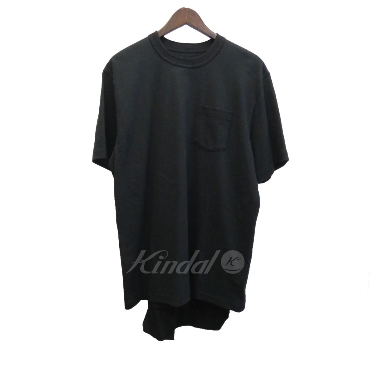 【中古】sacai 17AW エプロン付きオーバーサイズTシャツ「My Hero Tshirt」 ブラック サイズ:1 【040519】(サカイ)