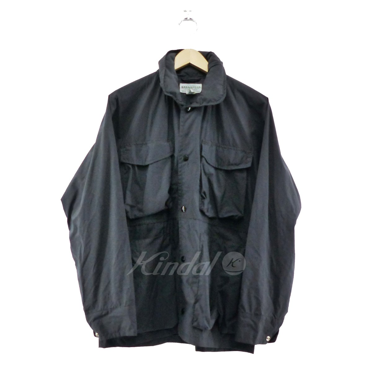 【中古】SASSAFRAS 2019SS Digs Crew Jacket ブラック サイズ:S 【100519】(ササフラス)