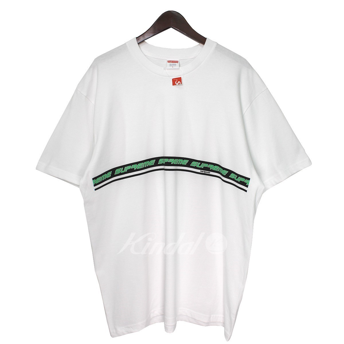 【中古】SUPREME 19SS Hard Goods Tee ハードグッズラインロゴTシャツ ホワイト サイズ:L 【100519】(シュプリーム)
