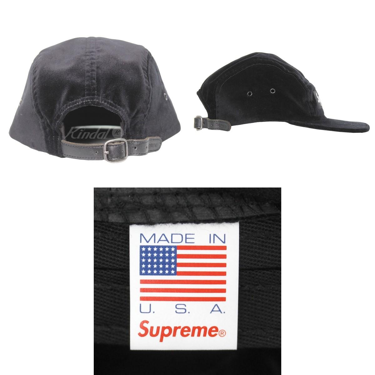 7c5ec5a0 ... SUPREME 18AW Velvet Camp Cap velvet camping cap black size: - Supreme  ...