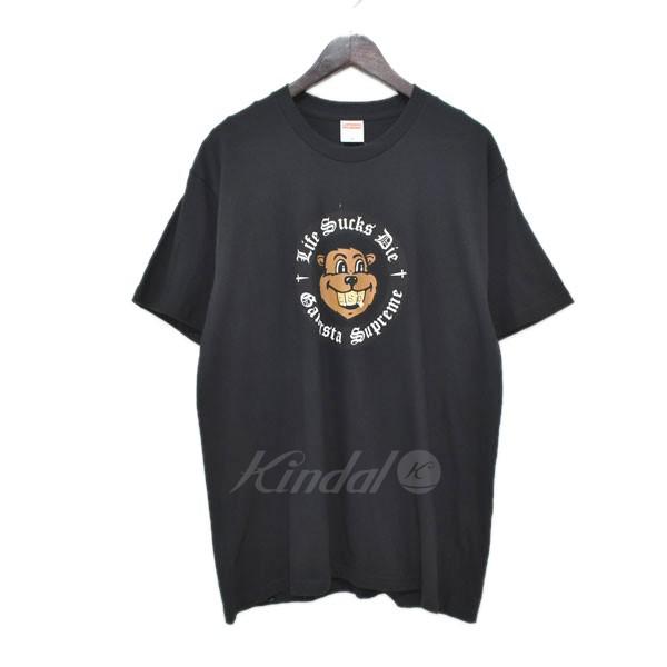 【中古】SUPREME 18AW プリントTシャツ Life Sucks Die tee ブラック サイズ:M 【110519】(シュプリーム)