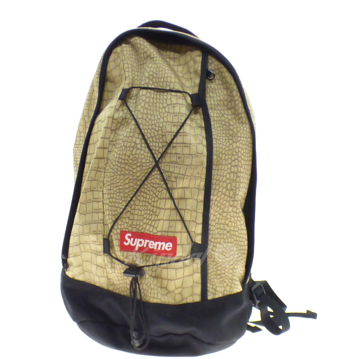 【中古】SUPREME 【2013S/S】 Croc Backpack ベージュ サイズ:Free 【110519】(シュプリーム)