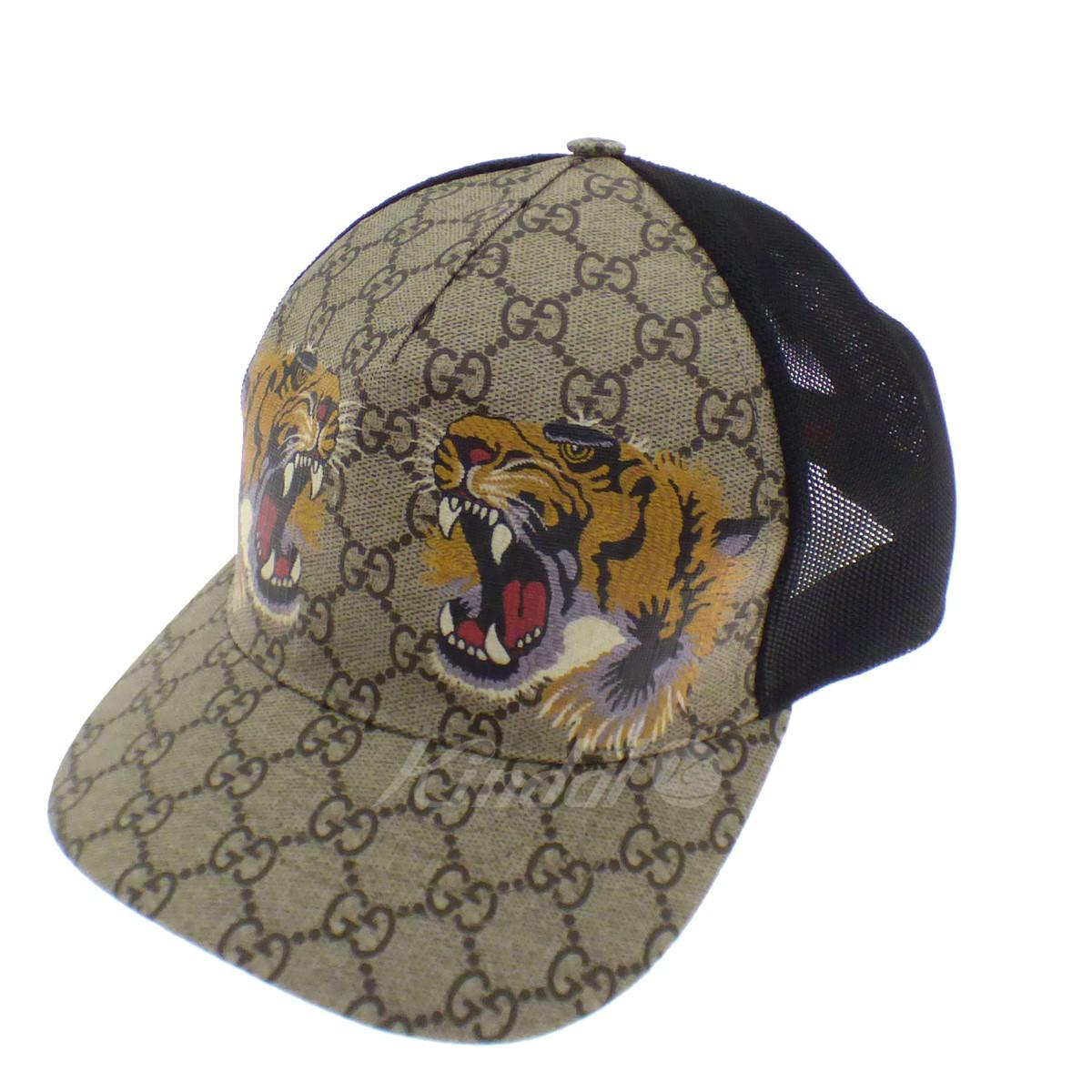【中古】GUCCI Tiger Baseball Cap ベージュ サイズ:Free 【110519】(グッチ)