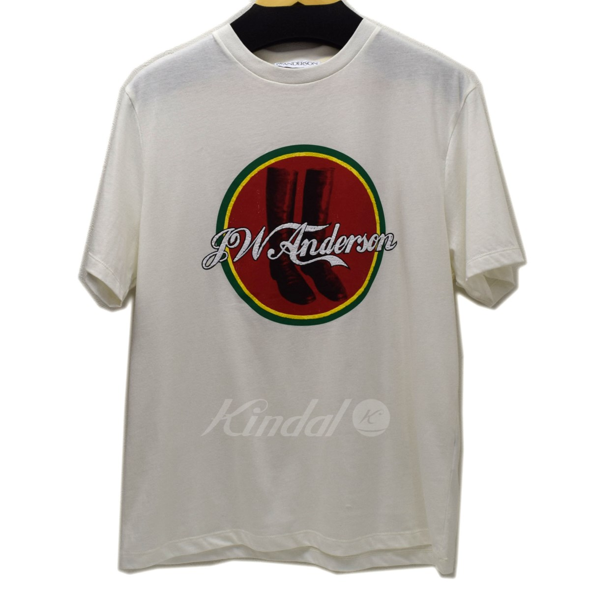 finest selection 4760f 43329 J. W. Anderson boots & logo T white size: M (Jonathan William Anderson)