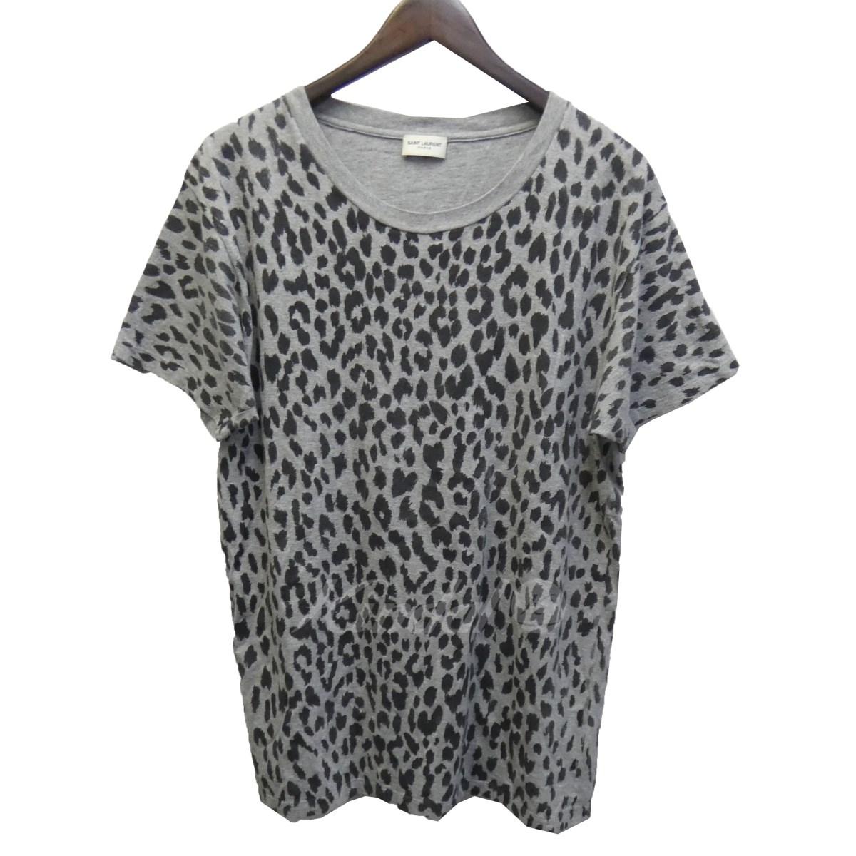 【中古】SAINT LAURENT PARIS 14SS ベイビーキャットTシャツ 343388 グレー サイズ:L 【110519】(サンローランパリ)