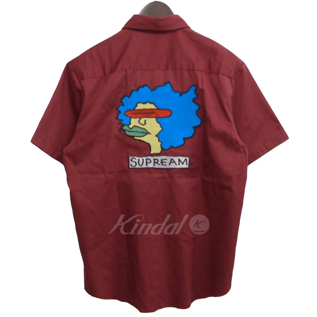 【中古】SUPREME 2017A/W「Gonz Work Shirt」ゴンズワークシャツ バーガンディー サイズ:S 【120519】(シュプリーム)