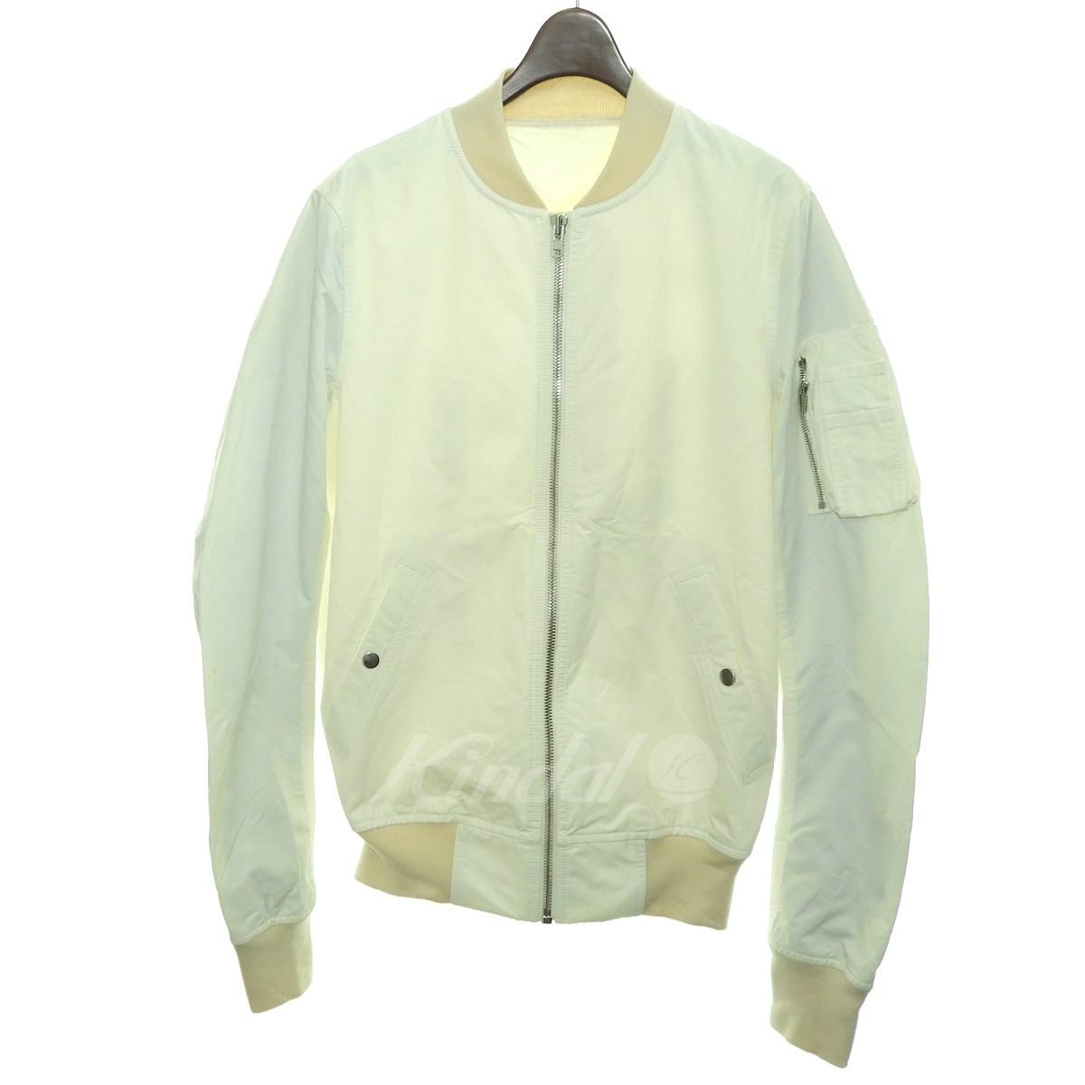 【中古】Rick Owens15SS MA-1ボンバージャケット ミルク サイズ:48 【6月26日見直し】