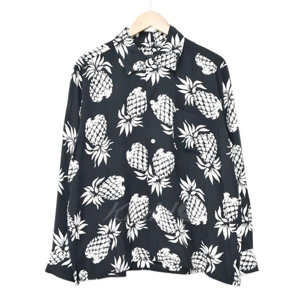【中古】SOPHNET. 18AW ALOHA REGULAR COLLAR SHIRT アロハシャツ ブラック×イエロー サイズ:S 【130519】(ソフネット)