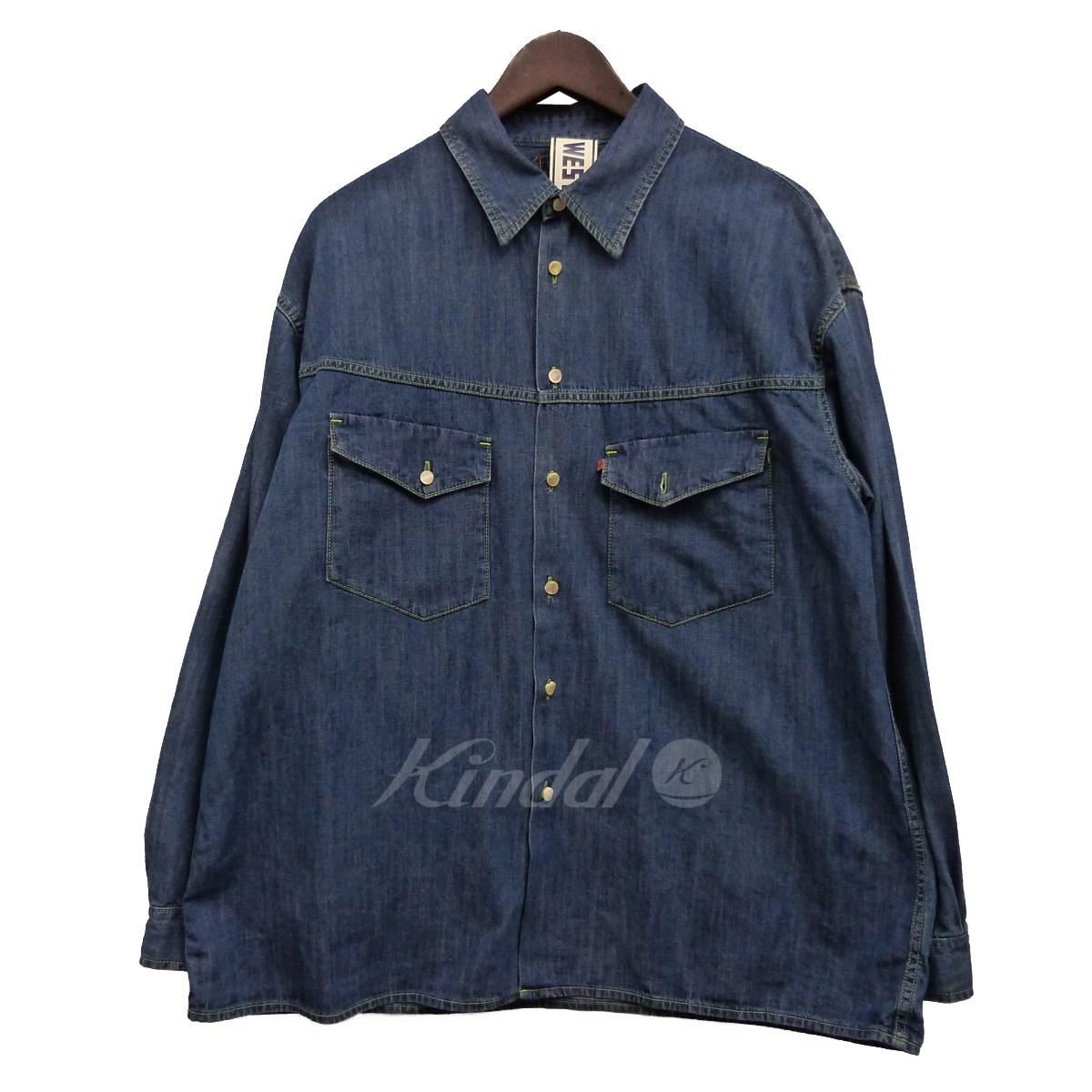 【中古】WESTOVERALLS 19SS デニムシャツ インディゴ サイズ:F 【130519】(ウエストオーバーオールズ)