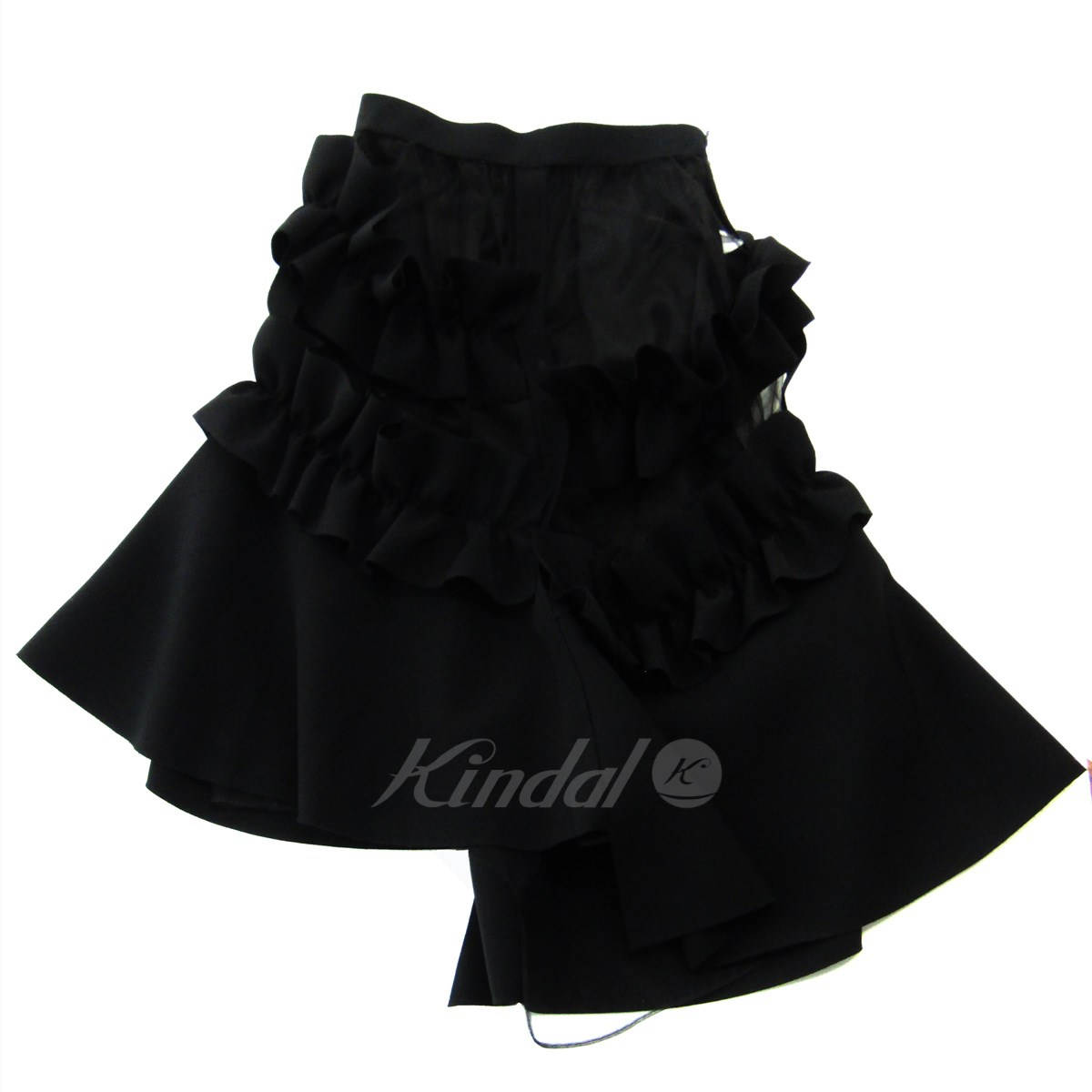 【中古】J KOO 2018AW RUFFLED SKIRT 変形スカート ブラック サイズ:S 【130519】(ジェイ クー)