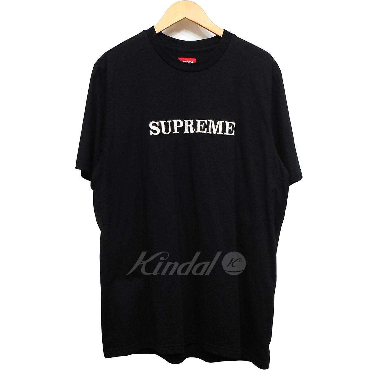 【中古】SUPREME 18AW Floral Logo Tee フローラルロゴTシャツ ブラック サイズ:L 【130519】(シュプリーム)