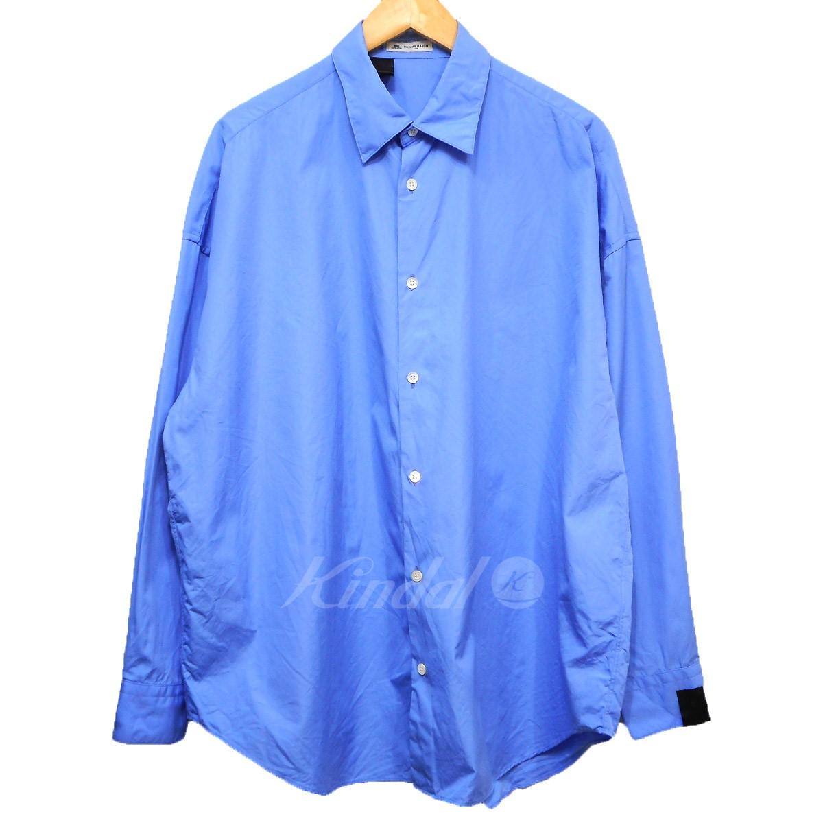 【中古】N.HOOLYWOOD×THOMAS MAISON 19SS オーバーシルエットシャツ ブルー サイズ:36 【140519】(エヌハリウッド)