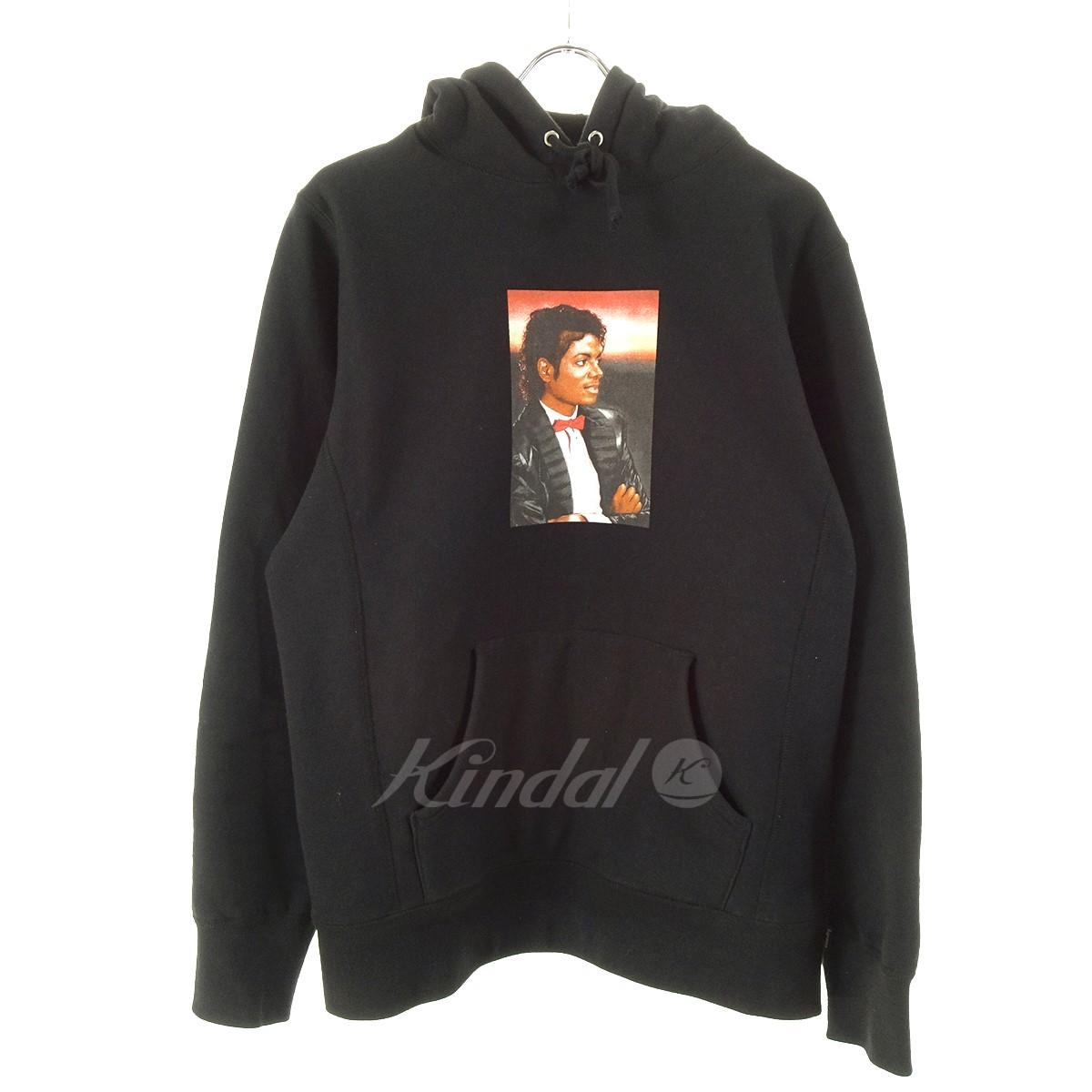 【中古】SUPREME Michael Jackson Hooded Sweat 17SS ブラック サイズ:M 【150519】(シュプリーム)