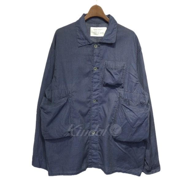 【中古】Mountain Research 「Hunter Shirts」総柄ハンターシャツ ブルー サイズ:M 【150519】(マウンテンリサーチ)
