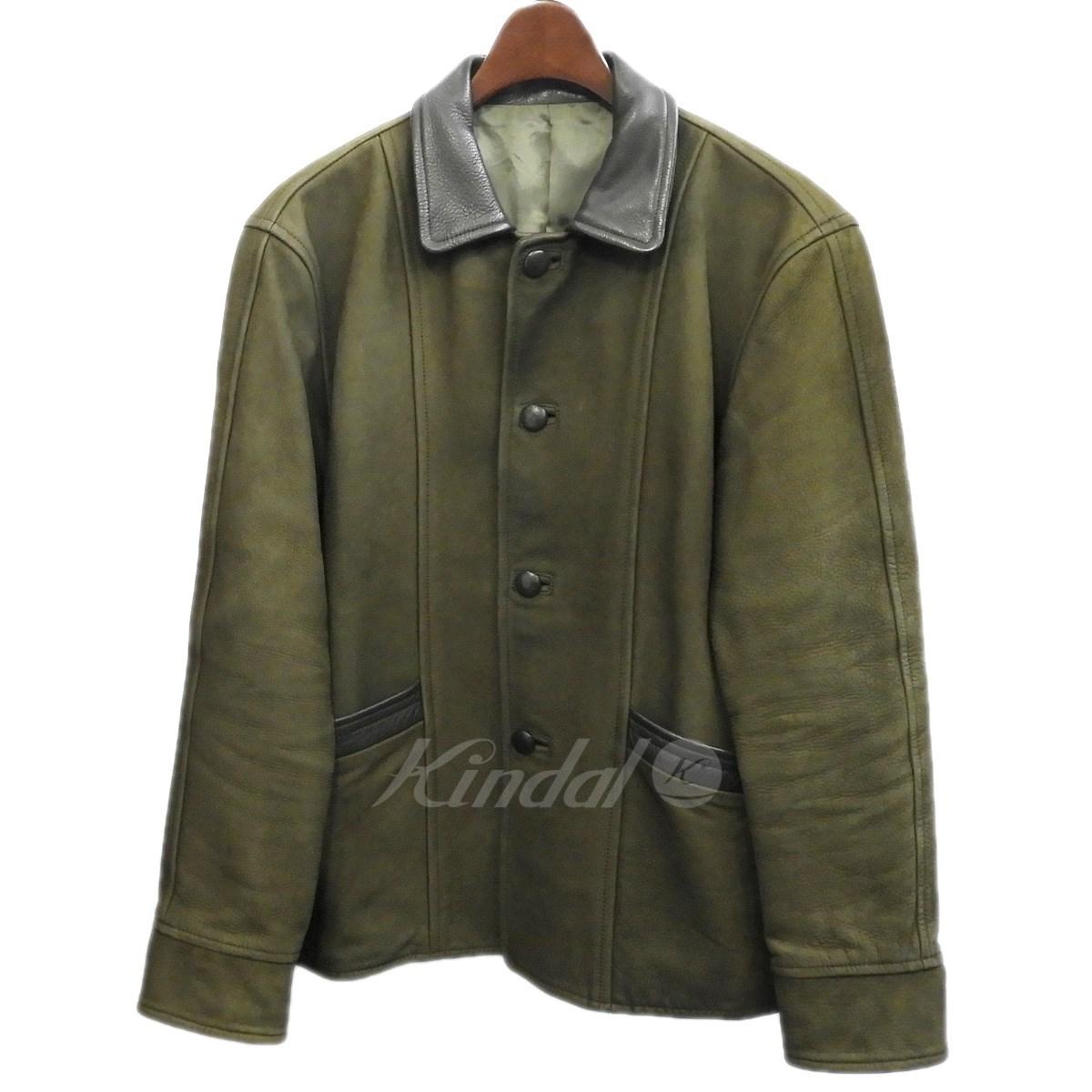 【中古】TENDERLOIN 「T-SUEDE JKT」レザージャケット カーキ サイズ:S 【160519】(テンダーロイン)