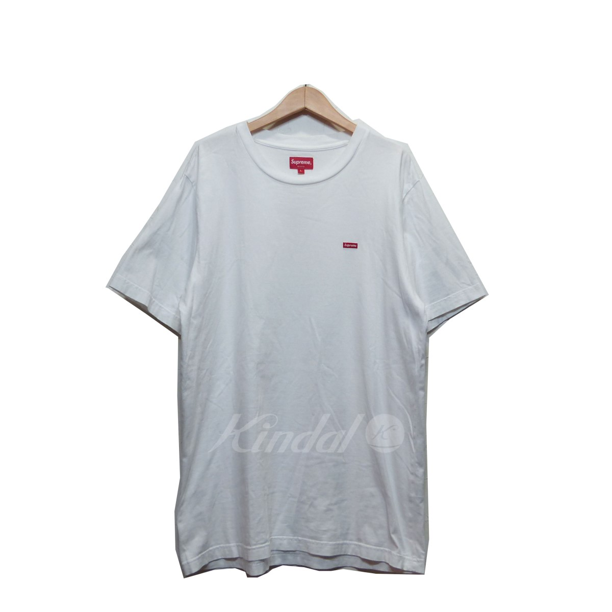 【中古】SUPREME シュプリーム ミニボックスロゴ 17SS Tシャツ ホワイト サイズ:L 【150519】(シュプリーム)